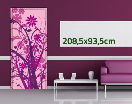 Produktfoto Türtapete Blumen selbstklebend -  Florales Ornament