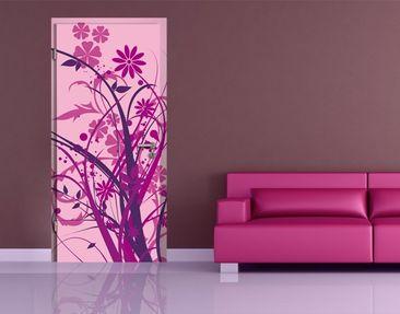 Immagine del prodotto Carta da parati adesiva per porte - Floral Ornament