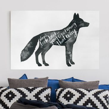 Product picture Canvas Art - Animals With Wisdom - Fox -...