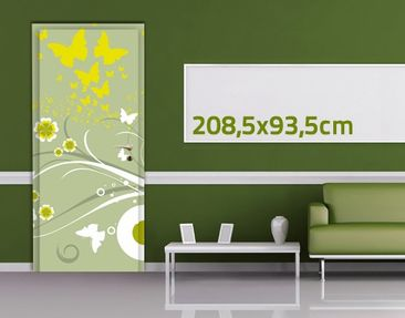 Product picture Door Wall Mural Butterflies In Spring