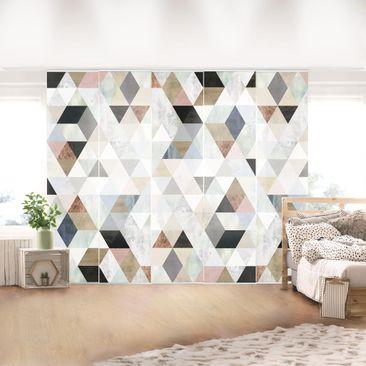 Immagine del prodotto Tende scorrevoli set - Mosaici in triangolo in acquerello I - 5 Pannelli
