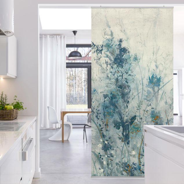 Produktfoto Raumteiler - Blaue Frühlingswiese I - 250x120cm