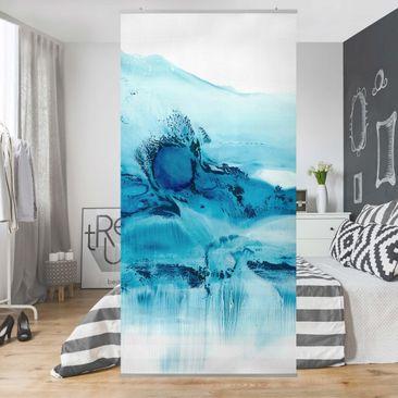 Produktfoto Raumteiler - Blaue Strömung II - 250x120cm