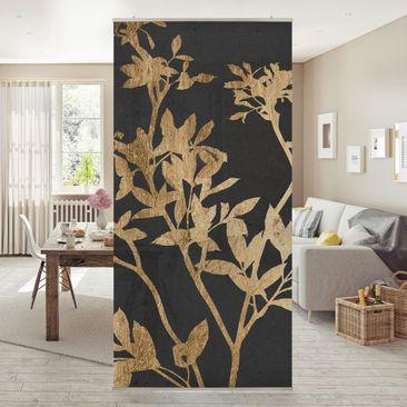 Immagine del prodotto Tenda a pannello - Foglie d'oro su Mocha II - 250x120cm