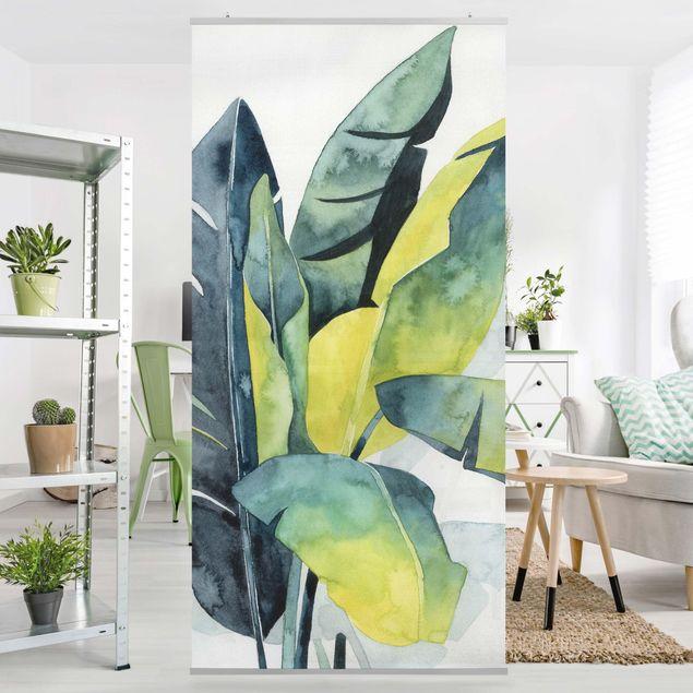 Produktfoto Raumteiler - Tropisches Blattwerk - Banane - 250x120cm