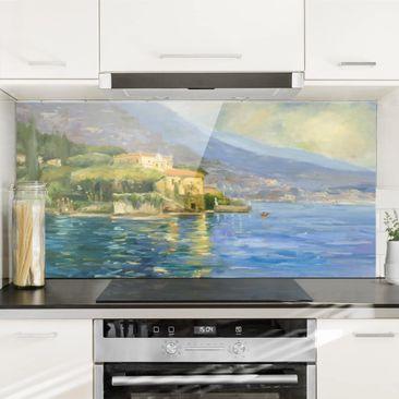 Produktfoto Spritzschutz Glas - Italienische Landschaft - Meer - Querformat 1:2
