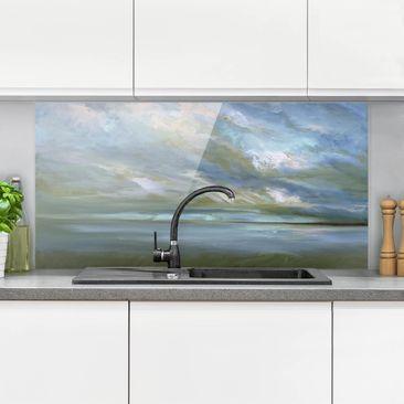 Produktfoto Spritzschutz Glas - Küstenhimmel - Querformat 1:2