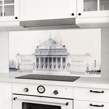 Immagine del prodotto Paraschizzi in vetro - Schizzo di Roma II - Panoramico