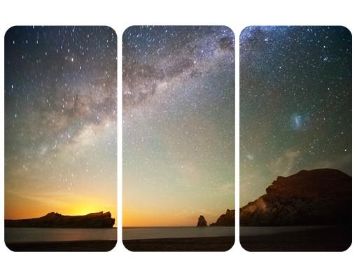 Produktfoto Selbstklebendes Wandbild Sternenhimmel über dem Meer Triptychon I