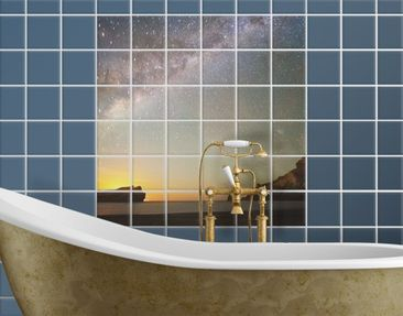 Product picture Tile Mural Starry sky over the sea