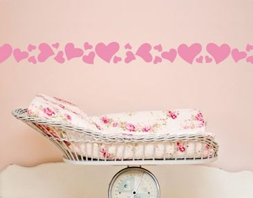 Product picture Wall Decal Bordure no.UL670 Hearts