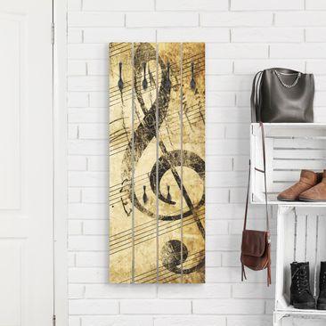 Produktfoto Wandgarderobe Holz - Note - Haken schwarz Hochformat