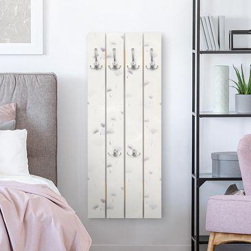 Produktfoto Wandgarderobe Holz - Pusteblumen Light - Haken chrom Hochformat