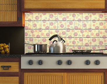 Product picture Tile Mural Ornament flowers