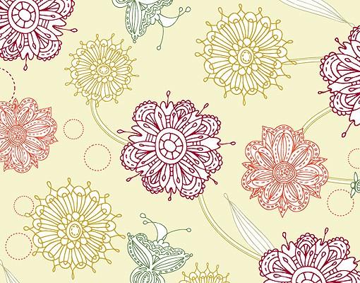 Produktfoto Selbstklebendes Wandbild Ornamentblüten II