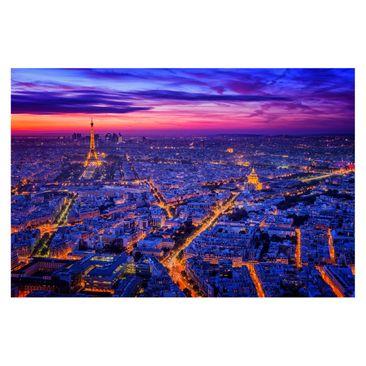 Produktfoto Fototapete - Paris bei Nacht - Fototapete Breit