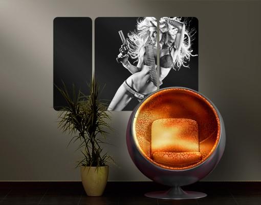 Produktfoto Selbstklebendes Wandbild Bang, Bang, Baby! Triptychon II