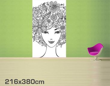 Product picture Photo Wall Mural Flowers In The Hair