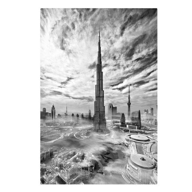 Produktfoto Leinwandbild - Dubai Super Skyline - Hochformat 3-2 Frontalansicht Artikelnummer 245819-FF