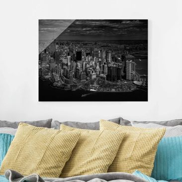 Produktfoto Glasbild - New York - Manhattan aus der Luft - Querformat 3:4