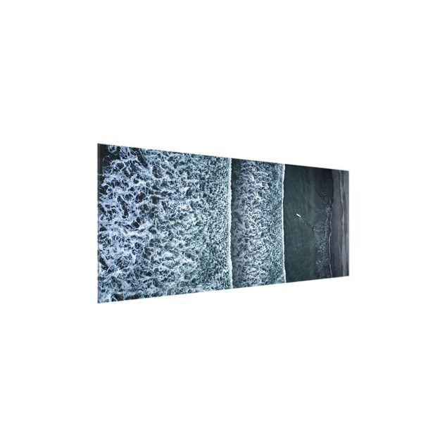 Produktfoto Glasbild - Luftbild - Der Herausforderer - Panorama