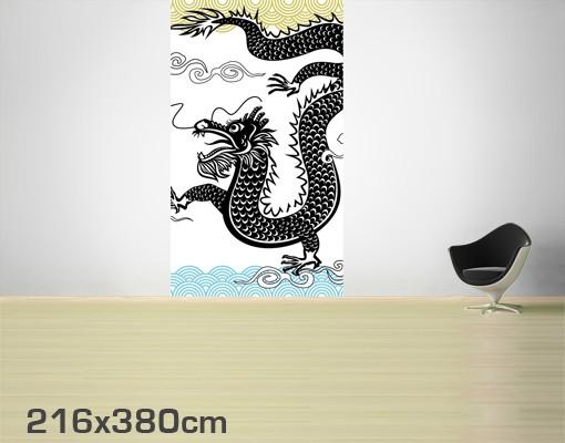 Produktfoto Selbstklebende Tapete - Fototapete Asiatischer Drache