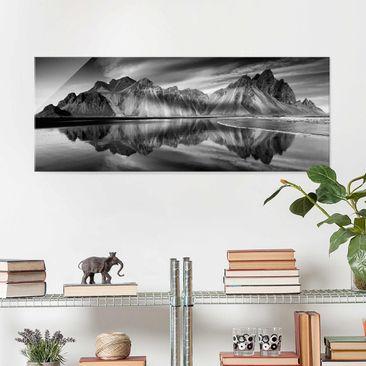 Produktfoto Glasbild - Vesturhorn in Island - Panorama