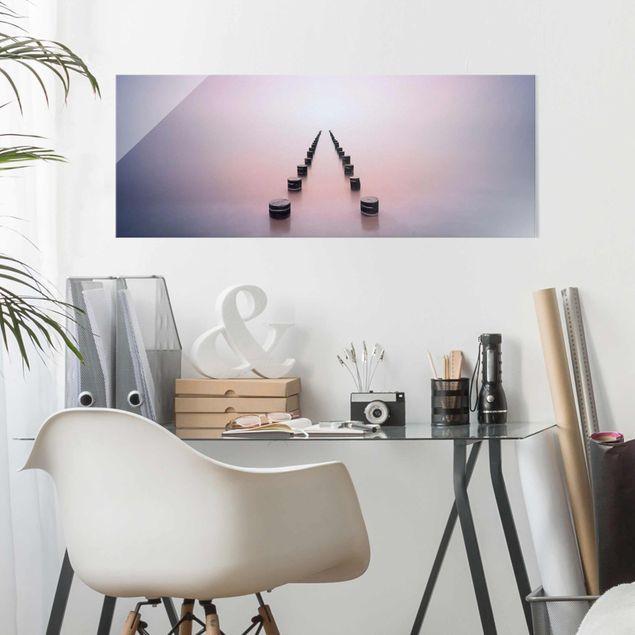 Produktfoto Glasbild - Zen am Strand - Panorama