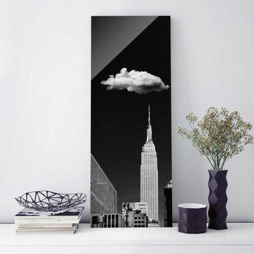 Produktfoto Glasbild - New York mit einzelner Wolke - Panel