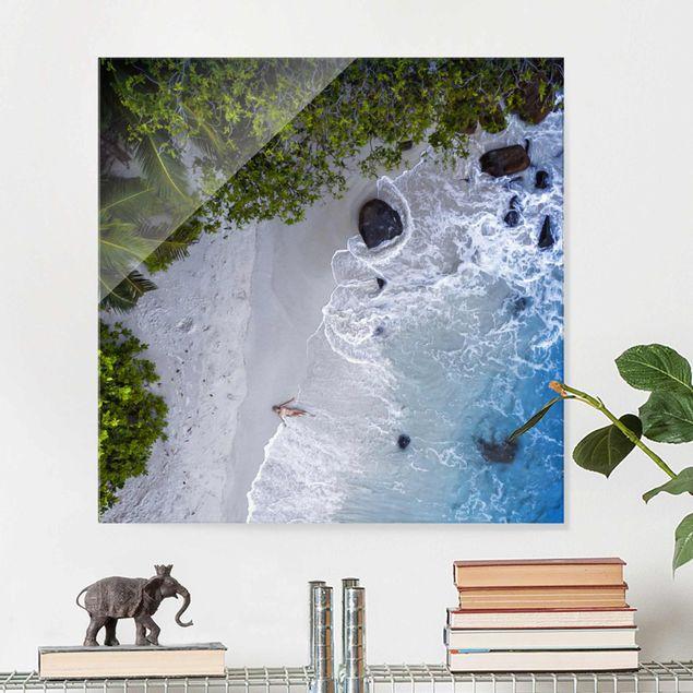 Produktfoto Glasbild - Das Paradies auf Erden - Quadrat 1:1