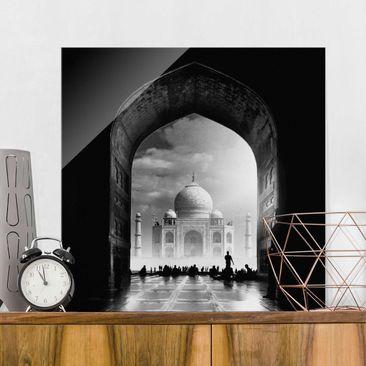 Produktfoto Glasbild - Das Tor zum Taj Mahal - Quadrat 1:1