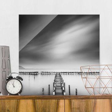 Produktfoto Glasbild - Der alte Pier - Quadrat 1:1