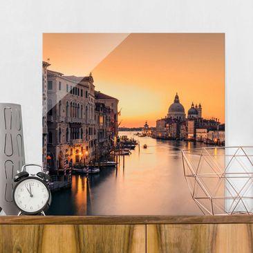 Produktfoto Glasbild - Goldenes Venedig - Quadrat 1:1