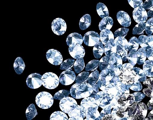 Produktfoto Selbstklebendes Wandbild Diamant Herz