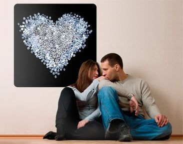 Product picture Wall Mural Diamond Heart