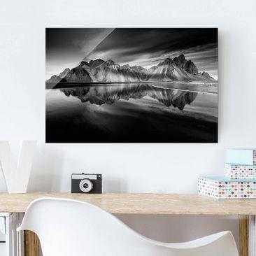 Produktfoto Glasbild - Vesturhorn in Island - Querformat 2:3
