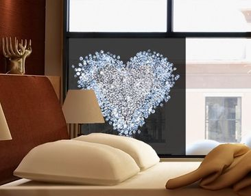 Product picture Window Mural Diamond Heart