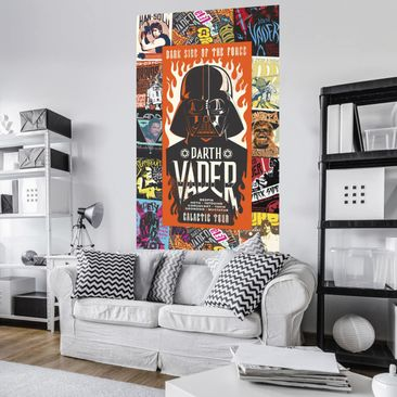 Produktfoto Disney Kindertapete - Star Wars Rock On Posters - Komar Fototapete