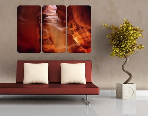 Produktfoto Selbstklebendes Wandbild Antelope Canyon Triptychon I