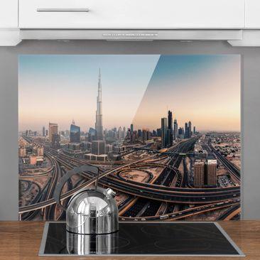 Immagine del prodotto Paraschizzi in vetro - Serata A Dubai - Orizzontale 3:4