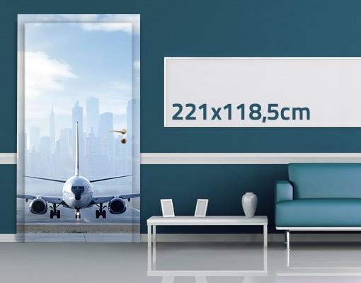 Produktfoto TürTapete Flugzeug vor dem Start