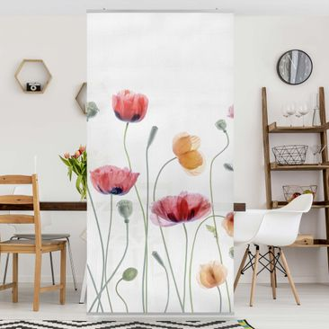 Produktfoto Raumteiler - Klatschmohn Party - 250x120cm