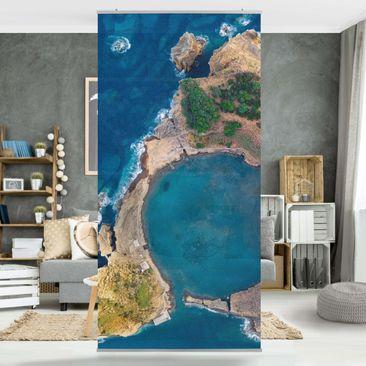 Produktfoto Raumteiler - Luftbild - Die Insel Vila Franca do Campo - 250x120cm
