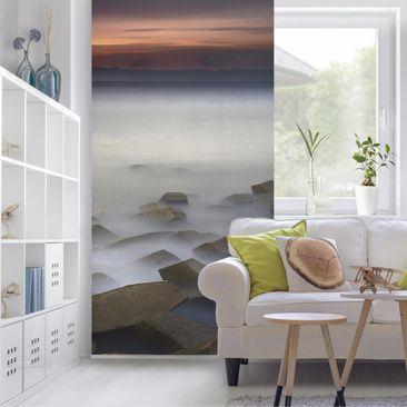 Produktfoto Raumteiler - Sonnenuntergang im Nebel - 250x120cm