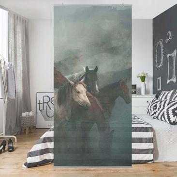 Produktfoto Raumteiler - Wilde Pferde - 250x120cm