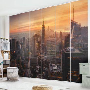 Immagine del prodotto Tende scorrevoli set - Manhattan Skyline Evening - 6 Pannelli