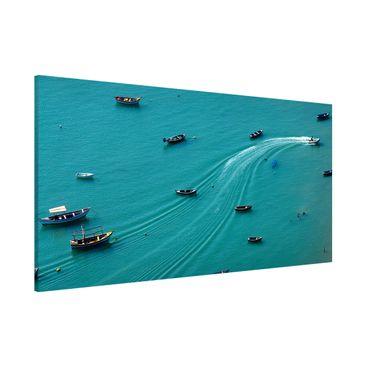Produktfoto Magnettafel - Ankernde Fischerboote - Memoboard Panorama Querformat 1:2