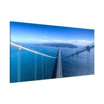 Produktfoto Magnettafel - Brücke zur Insel - Memoboard Panorama Querformat 1:2