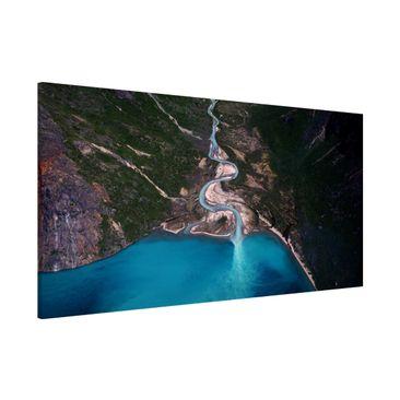 Produktfoto Magnettafel - Fluss in Grönland - Memoboard Panorama Querformat 1:2