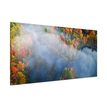 Produktfoto Magnettafel - Luftbild - Herbst Symphonie - Memoboard Panorama Querformat 1:2